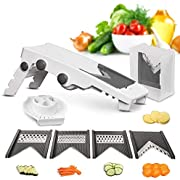 Mueller Austria V-Pro 5 Blade Adjustable Mandoline Slicer - White/Grey