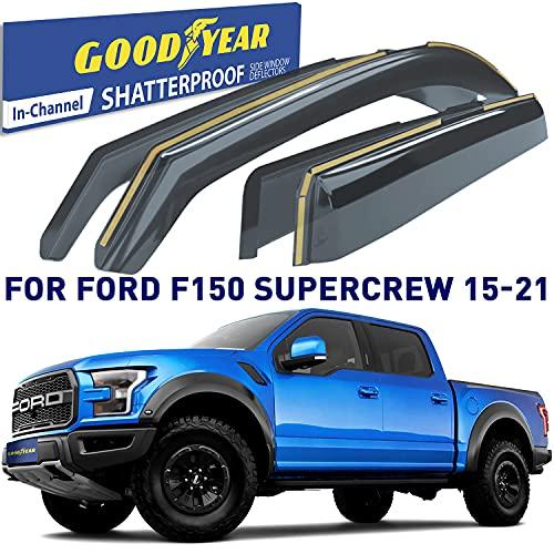 Goodyear Shatterproof in-Channel Window Deflectors for Trucks Ford F150 2015...