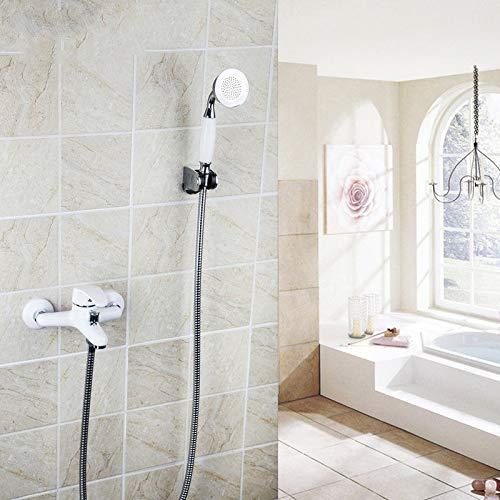 OZSGH douche wit schilderij massief messing bad kraan muur gemonteerd waterval badjas Basin chroom handvat wastafel kraan mixer kranen