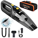 BOKIC Car Vacuum Cleaner Cordless, Handheld Vacuum Rechargeable, Portable High Power 8000Pa, Small Mini Handheld Detailing Cleaning Kit for Home Office