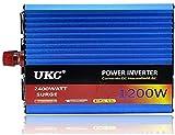 ACYCY Inversor de Corriente para automóvil de 1200 vatios 24v a 220v pie Inversor de 1200 vatios para automóvil Puede equiparse con una Olla arrocera eléctrica.