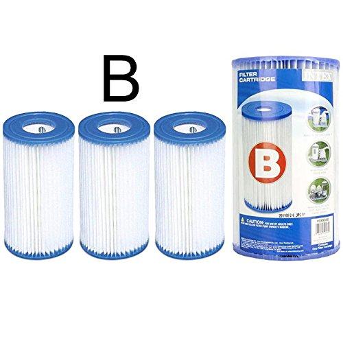 Générique 3 Cartouches de Filtration Intex pour Filtre Piscine - Intex Type B