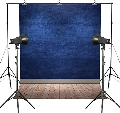 MUEEU Blue Backdrops Ocean Navy Blue Vinyl Thin Photography Background Solid Colour Wall Wood Floor Potriotic Seamless Studio Props for Photographers 6x9ft (Blue Backdrop)