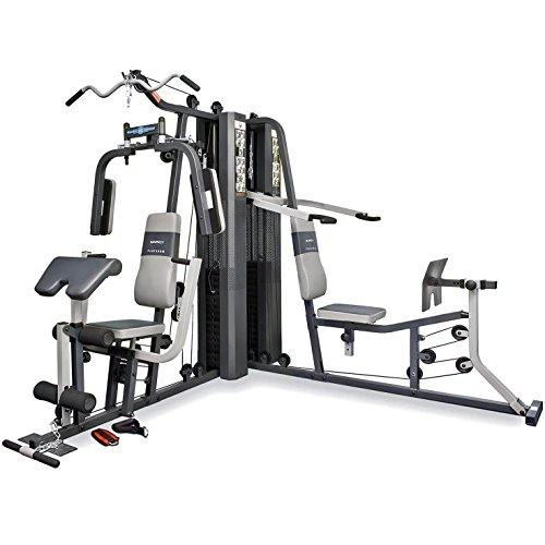 Marcy GS99 Dual Stack Home Gym (Leg Press, 2 utenti), 2 x 65 kg.
