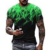 Camiseta Casual De Manga Corta Hombre Elementos Creativos De Verano Camiseta De Manga Corta con Estampado 3D Tendencia Camiseta Casual Camiseta Holgada Camisa Musculosa TTA4-07 M