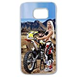 Générique Coque Samsung S8 Plus Moto Cross Femme Sexy Pin up Pose Freestyle Motocross Freeride