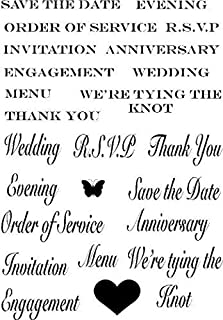 Crafty Impressions A6 Marion Emberson Wedding Sentiments Stamp