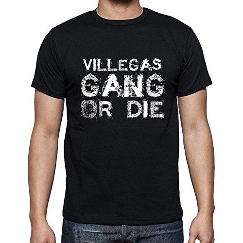 Villegas Family Gang, Camiseta para Las Hombres, Manga Corta, Cuello Redondo, Negro