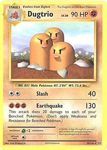 Pokemon - Dugtrio (56/108) - XY Evolutions