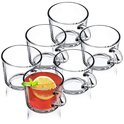KADAX Juego de 6 vasos de té, vasos con asa,