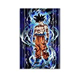 WXXF Póster de Dragon Ball Super De Goku Ultra Instinto de pintura decorativa lienzo pared sala de estar póster dormitorio pintura 30 x 45 cm