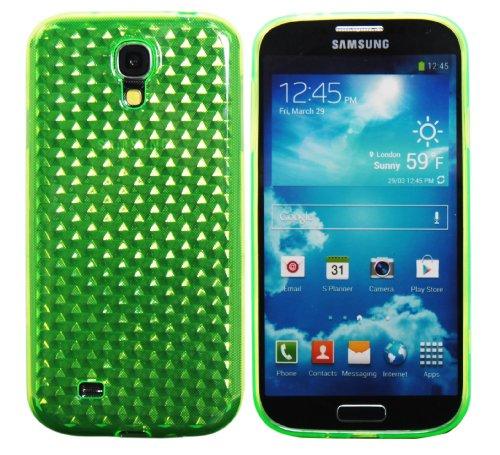 Luxburg® Diamond Design custodia cover per Samsung Galaxy S4 GT-I9505 colore verde smeraldo, in silicone TPU