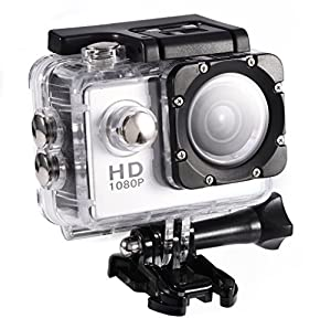 Waterproof Outdoor Cycling Sports Mini DV Action Camera Camcorder (Silver)