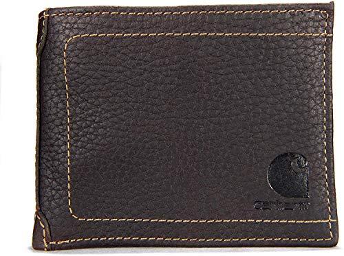 Carhartt 61-2201 - Cartera (piel), diseño con logo, marrón, 61-2201-20-Brown-One Size