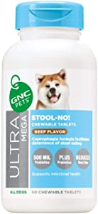 GNC Pets Ultra Mega Stool - No! Chewable Tablets Dog Supplement - No Stool Eating for Dogs Pet Supplement - Dog Stool Eating Deterrent Stool No for Dogs Stool No for Dogs, Pets No Stool
