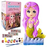 Yileqi Paint Your Own Mermaid Painting Kit, Mermaid Toys Paint Mermaid Crafts and Arts Set for Girls Ages 4 5 6 7 8 9 10 Years Old, Non Ceramic & Non Fragile, Kids Piggy Banks Birthday Gift