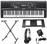 Yamaha EZ-220 Key Lighting Keyboard including AC Adapter, Quicklock Stand, Headphones and Free