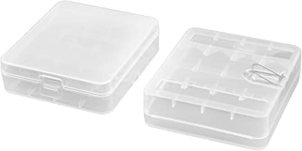 Plastic Battery Protective Storage Compartment White 2 PCS for AAA Batteries