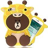 NALIA Funda Carcasa 3D Compatible con iPhone SE 2020/8 / 7, Dibujos Animados Protectora Movil Silicona Ultra-Fina Motivo Gel Bumper, Goma Cubierta Delgado Cover Case, Motiv:Giraffe