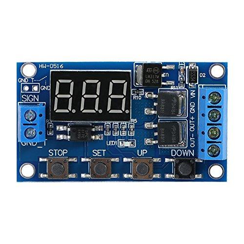 Akozon Zeitgeber Relais Modul Zeitverzögerungsrelais DC 5V - 36V Trigger Zyklus Verzögerung Zeitschaltuhr Ein/Ausschalten Relaismodul mit LED-Anzeige Trigger Delay Digital LED Board