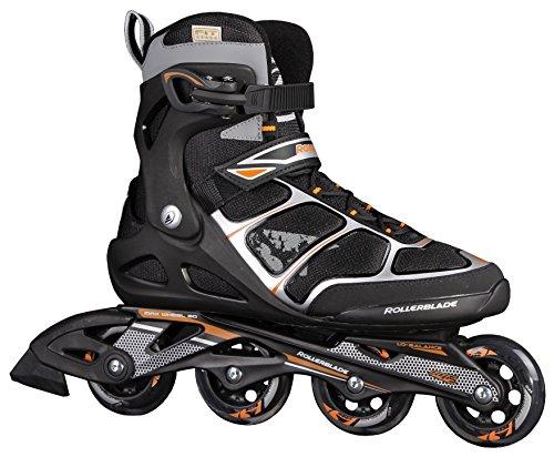 Rollerblade Astro Comp - Patines en línea para hombre, color negro/naranja, talla 42