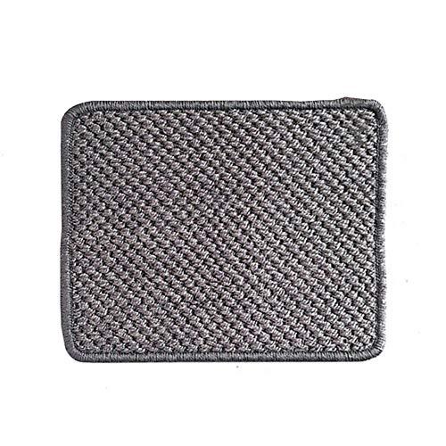 Hamkaw - Alfombrilla para rascar, diseño de gato de sisal natural, tejido de alta calidad, adhesivo para la pared, antideslizante, alfombrilla para proteger el sofá o la alfombra
