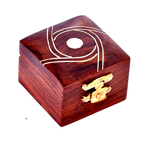 Decorative Wooden RIng Box by Hashcart