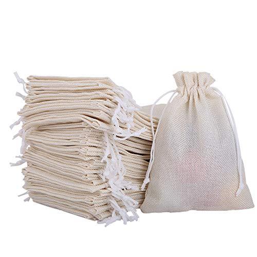 Uponer 30 bolsitas Saco de Yute con cordón Ajustable 13x18cm Bolsas de Regalo Bolsa de Lino para Joyas, el Bricolaje, Artesanales, Reuniones, Bodas, aco Navidad, Saco carbón, bolsitas Regalos
