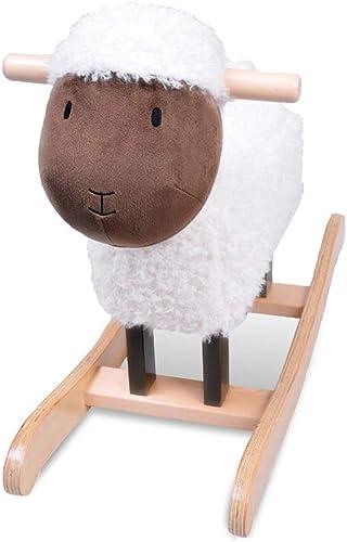 FJH Schaukelpferde Schaukelpferd Baby Spielzeug Baby Kind Holz Pferd Stuhl Schaukelpferd Geschenk 60  23,5  47 cm (Farbe   Weiß)