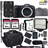 Canon EOS RP Mirrorless Digital Camera Holiday Deal Bundle with RF 24-240mm f/4-6.3 is USM Lens + LED Video Light, Flash/Light Bracket & Microphone Accessory Kit