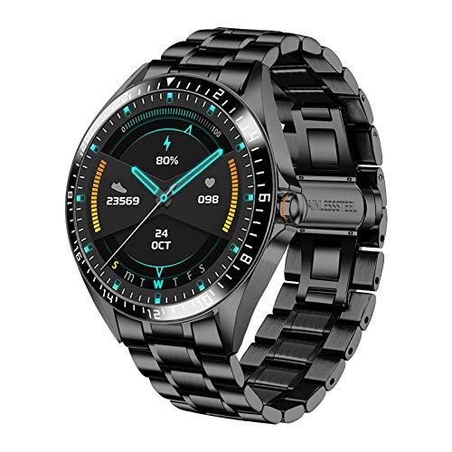 Hombre Reloj Smart Watch, IP68 Impermeable Rastreador de Ejercicios Frecuencia Cardíaca Oxígeno en Sangre Monitor de Presión Arterial Pantalla Táctil Completa Reloj Inteligente Deportivo