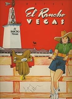 Hotel El Rancho Vegas 1948 Souvenir Menu (autographed by Larry Adler) Las Vegas, Nevada
