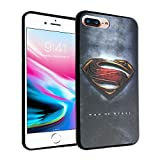 iPhone 8 Plus Case, DURARMOR FlexArmor iPhone 7 Plus Superman Rubber TPU Case ScratchSafe Cover for iPhone 7 Plus / 8 Plus Superman