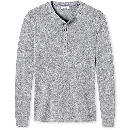 Schiesser, Herren Shirt Karl-Heinz, Langarm, Grau Melange, 6/L