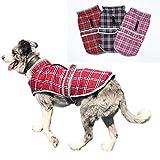 Vivi Bear Suéter para Perros Abrigo para Perros con el Terciopelo Plus, mantén el Calor, la Moda es fácil de Ajustar Chaleco de Invierno Adecuado para Cachorros, Perros medianos y Perros Grandes