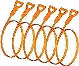 Asamoom 6pcs 20.4Inch Drain Snake Hair Drain Clog Remover Herramienta de Limpieza