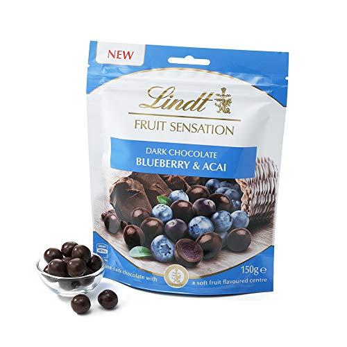 Lindt & Sprüngli  Sensation Fruit Heidelbeere und Acai, extra feine, dunkle Schokolade-Kugeln mit einer fruchtig-weichen Füllung (1 x 150 g)