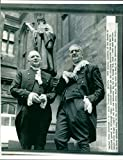 Vintage photo of Rt. Rev. Dr. Donald Selby Wright and Rev. Dr. George T.H. Reid.