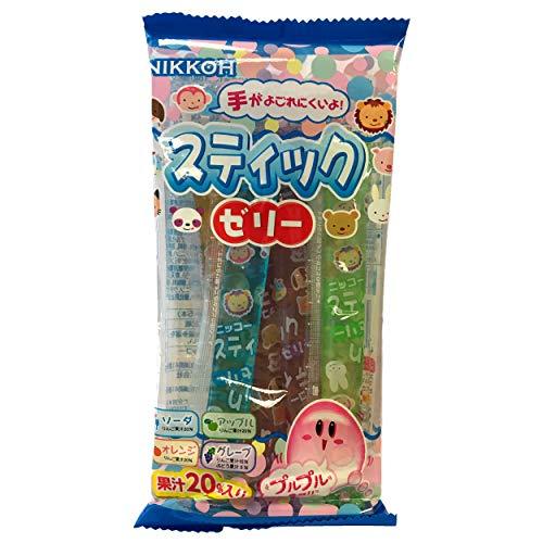 Nikkoh - Japanische Jelly Sticks / Jelly Candy / Jello Straws - 1er Pack (1 x 80g)
