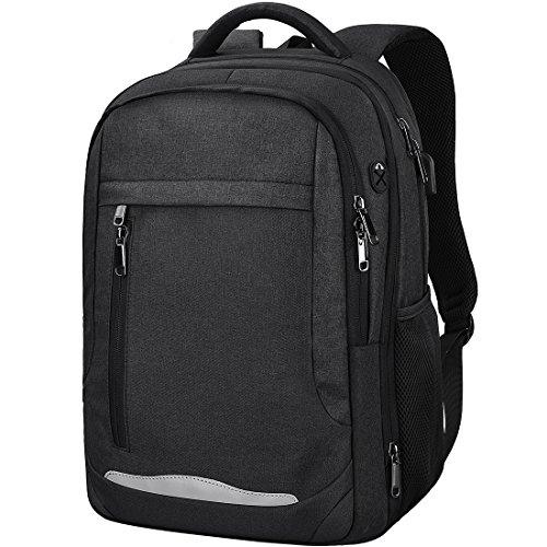 NEWHEY リュック メンズ バックパック 防水 リュックサック 大容量 ビジネスリュック 15.6インチ PCバッグ 通勤 通学 出張 旅行 多機能 人気 丈夫 USBポート ブラック グレー