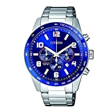 Citizen Reloj AN8161-50L Acero Inoxidable Correa Color: Metálico Dial Azul Cronógrafo Hombre