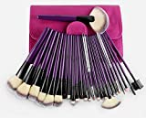 MSQ 24pcs pincel de maquillaje cepillo superior / púrpura conjunto completo profesional de herramientas de maquillaje / belleza conjuntos de pincel