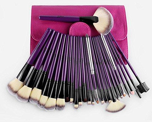 MSQ 24pcs brosse de maquillage pinceau senior/violet professionnel ensemble complet d'outils de maquillage/ensembles de beauté de brosse
