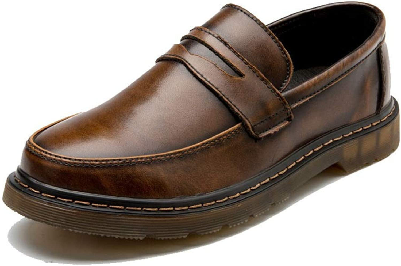 FuweiEncore 2018 Herrenmode Oxford Schuhe, Casual Bequeme Cover Feet Runde Zehe One Foot Pedal Workwear Schuhe (Farbe   Braun, Größe   40 EU) (Farbe   Wie Gezeigt, Größe   Einheitsgröße)  | Vielfalt