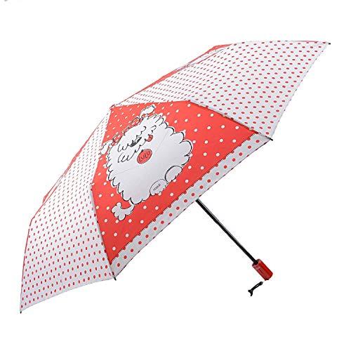 Paraguas Plegable Automático Abre y Cierra para Mujer Talla: U Color: Blanco