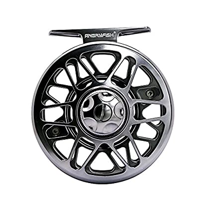 ANGRYFISH Fly Fishing Reel with CNC-machined Aluminum Alloy Body 3/4, 5/6, 7/8, 9/10 by YILE