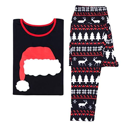 MEIHAOWEI Familia Navidad Pijamas Papá Noel Familia Ropa Matchig X-mas Pjs Madre Hija Padre Hijo Ropa Dormir Mirada Familia Ropa Dormir