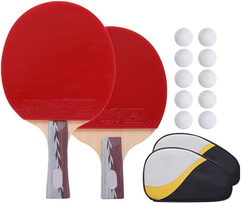 Lerten Conjunto de Bola de Ping-Pong Portátil Tabla Raqueta de Tenis Set Batea 2 Paddle para Adultos de Los Niños Inicio Juego de Interior Al Aire Libre Club de Deportes Oficina Adapta Escuela Y