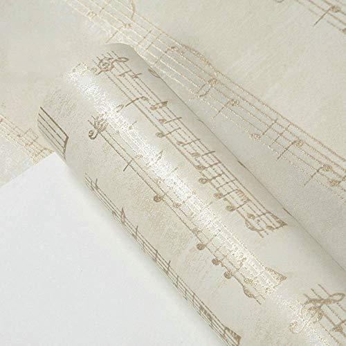 Estilo americano moderno Personalidad Partitura Partitura Papel tapiz Sala de estar Sala de piano Música Aula Formación Fondo de pantalla Papel tapiz (color : A)
