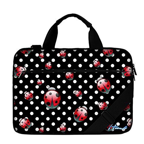 Luxburg® 13 Zoll Businesstasche mit Schultergurt Notebooktasche Laptoptasche Tasche für Laptop/Notebook Computer